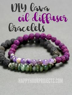 DIY Lava Oil Diffuser Bracelets - All-natural beginners jewelry project that's great for gifts and everyday wear! Perfume Good Girl, Perfume Diesel, Perfume Glamour, Perfume Hermes, Perfume Versace, Diy Jewelry Tutorials, Diy Jewelry Making, Charms, Arm Candies