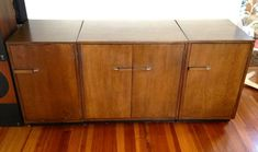 View this item and discover similar for sale at - Moderne set of storage cabinets by Eliel and Pipsan Swanson Saarinen designed for Johnson Furniture. Very nice set of three. Storage Furniture, Furniture, Modern Bookcase, Cabinet, Storage Cabinets, Bookcase, Credenza, Storage, Bookcase Design
