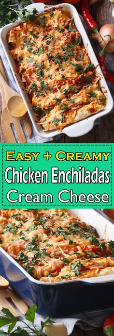 This authentic chicken enchiladas recipe is a Mexican staple food, definitely one of the best chicken enchiladas you have ever made. Chicken Breast Recipes Healthy, Chicken Thigh Recipes, Healthy Chicken Recipes, Beef Recipes, Yummy Recipes, Easy Dinner Recipes, Appetizer Recipes, Chicken Appetizers, Dinner Ideas