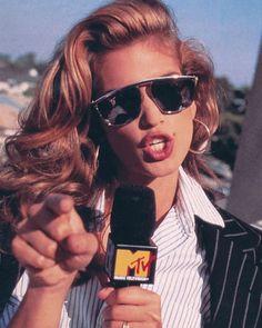 MTV Host Cindy Crawford. 1993 … #80s90s #80sshades #80sfashion #80sglam #80sstar…