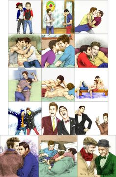 Klaine story in color drawing
