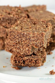 These No Bake Cookie Bars are so simple to make and even more delicious to eat! Made of oats, chocolate, peanut butter, these no bake cookie bars are a favorite! One of my favorite memories growing up was making no bake cookies with Mama and my sister. They were always a special treat that we...