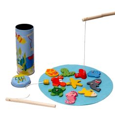 Such a simple toy yet your child will love catching the fish on offer (see if they can catch the treasure!). Perfect for travel. Hello Charlie - Fishing Game Tin Box, $9.95 (http://www.hellocharlie.com.au/fishing-game-tin-box/) #hellocharlie #3yearold