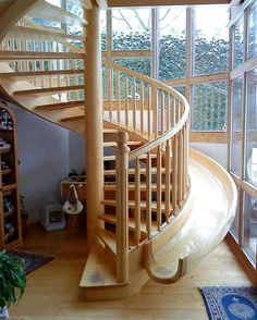 stairway with slide