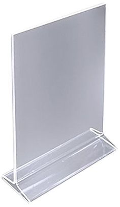 ChefLand Acrylic Sign Holder/Table Card Display/Plastic Upright Menu, 4 by 6-Inch, Clear. 6 pack: $16.99 & FREE Shipping on orders over $35. Search for the 12 pack: $34.99 & FREE Shipping on orders over $35.