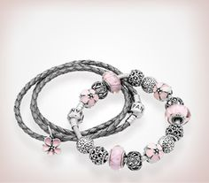Pandora pink and grey. Edgy & girly too - Really a big fan of the Pink & Grey or Pink & Grey Pandora bracelets. They are my favorites.