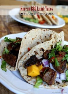 Sharing with you easy and delicious tacos with Korean and Mexican flavors doing magic together. Asian marinade ingredients with brown sugar gives lamb nice caramelized color and sweet umami bite. A...