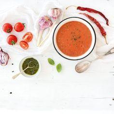 Aubergine-tomatensoep