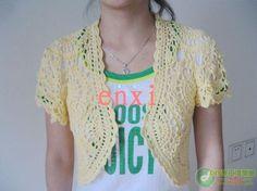 Crochet patterns: Free Crochet Chart for Lacy Summer Jacket Floral Motif