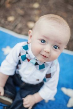 Photo By LindenLeaf - Those big blue eyes, with his little bow tie and his little suspenders! I am in love!