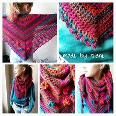 made by me.  road trip shawl, roadtrip shawl, road trip sjaal, roadtrip sjaal