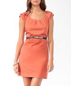 Pleated Shift Dress | LOVE21 - 2011408628 $20