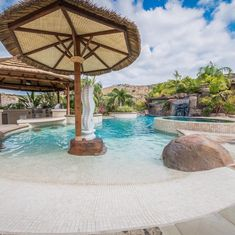 Swimming Pool & Landscape Design and Construction Orange County, CA Zero Entry Pool, Beach Entry Pool, Palm Beach, Swimming Pool Landscaping, Backyard Pools, Diy Pool, Yard Landscaping, Tropical Pool And Spa, Leisure Pools