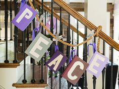 Turn Thrift Store Books Into a Lavender and Plum Banner
