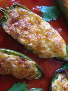 Cheese Stuffed Jalapenos- These look sooooooo good. I may have to make them. You have to scroll down for the recipe.