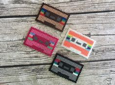 Retro Cassette Tape Perler Bead Sprite by Hollohandcrafted on Etsy