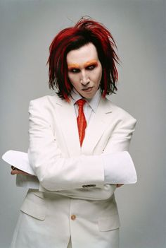 Marilyn Manson - Mechanical Animals era. This was my favorite era of MM. Saw him 4 times in concert from late 90's/early 00's. The best one was on Easter Sunday, 1999. I know he must have loved it.