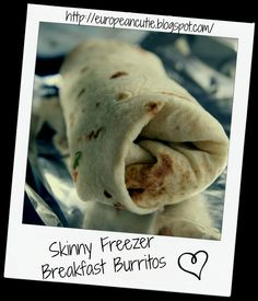 Skinny Freezer Breakfast Burritos  on MyRecipeMagic.com