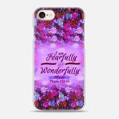 I AM FEARFULLY AND WONDERFULLY MADE 4- Psalm 139:14 Whimsical Fine Art Colorful Floral Pattern Lavender Magenta Purple Christian Bible Verse Scripture Jesus Christ God Inspiration - Snap Case #Casetify @Casetify #CasetifyArtist #EbiEmporium #ChristianiPhone #Christ #BibleVerse #Scripture #iPhoneCase #iPhone6 #iPhone7 #iPhone8 #iPhoneX #iPhone7Plus #iPhone8Plus #Religious #Faith #Bible #FearfullyandWonderfullyMade #Psalm #Inspiration #Jesus #God #typography #floral #Samsung #colorful