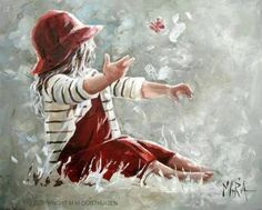★ℒ ★ Maria Magdalena Oosthuizen Painting & Drawing, Watercolor Paintings, Maria Magdalena, South African Artists, People Art, Cool Paintings, Beach Art, Anime Comics, Art Pictures