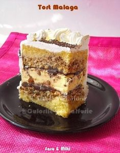 Malaga Cake ~ colors on your plate Romanian Desserts, Russian Desserts, Romanian Food, Italian Desserts, Vegan Desserts, Sweets Recipes, Baking Recipes, Cake Recipes, Malaga