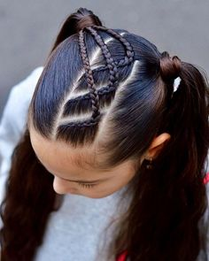Quick Hairstyles For School, Cute Hairstyles For School, Summer Hairstyles, Pretty Hairstyles, Baddie Hairstyles, Girl Hairstyles, Medium Hairstyles, Hair Hacks, Long Hair Styles