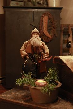Primitive Christmas...santa.