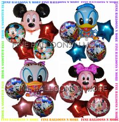 MICKEY / MINNIE MOUSE GOOFY DONALD DUCK BALLOON PACK BIRTHDAY PARTY SUPPLIES #birthday