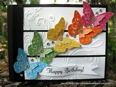 """butterfly card, I actually made some of these. They are posted on """"My crafts"""" board."""