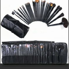 32 pc Cosmetic Makeup Brush Set Kit wit 32 pc Professional Cosmetic Makeup Brush Set Kit with Synthetic Leather Case,black Makeup Brushes & Tools