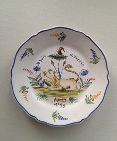 Vintage Faience French Revolution Plate 4 by Relikology on Etsy, $105.00