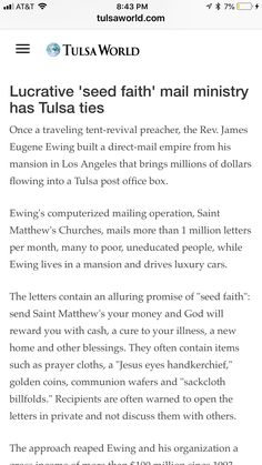 Tulsa World, Direct Mail, The Rev, Collaboration, Faith, News, Direct Mailer, Loyalty, Believe