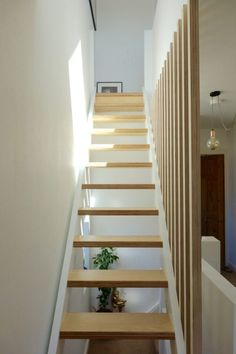Banisters, balustrades and building regs - The alternative loft staircase If you're looking for an alternative to the winder staircase up to your loft conversion, and aren't afraid of putting the hours in, you might like this. Staircase Banister Ideas, Loft Staircase, Stair Railing Design, Banisters, House Stairs, Bannister Ideas, Floating Staircase, Spiral Staircases, Attic Renovation