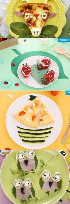 Retrouvez des dizaines d'idées recettes ultra rigolotes pour petits et grands gourmands :) #Kiri #recette #kids #foodart #cute #yummy #cream #cheese #fun #kids #food #enfant #plat #rigolo #animals #owl #fromage #miam #cute