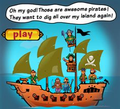 Awesome Pirates - Cool Math Games 4 Kids