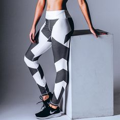 Fashion Fitness Leggings Women Elastic Jeggings Sporting Pants Printed Leggings Workout Bodybuilding Leeging