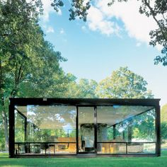 the glass house revisited. philip johnson.1949.