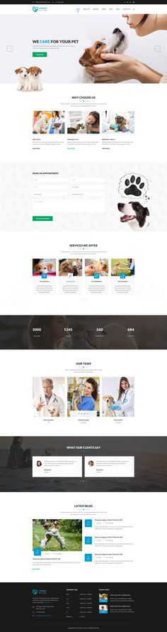 Carlisle : Pet Care PSD Template #psd #cats #dog walker • Download ➝ https://themeforest.net/item/carlisle-pet-care-psd-template/18962182?ref=pxcr
