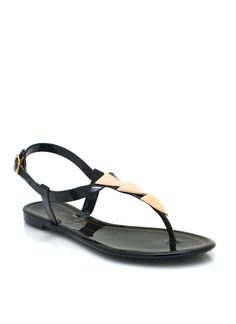 Jelly triangle-charm-sandals $13.80 Also in white