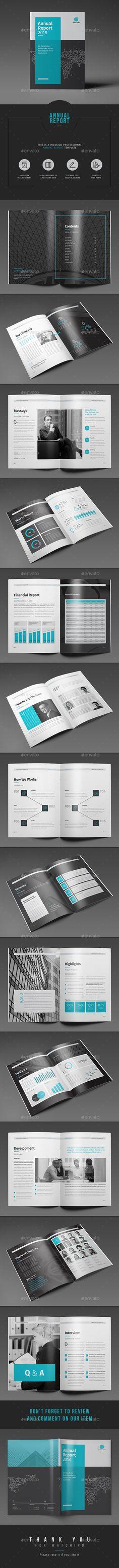 Annual Report Template InDesign INDD. Download here… la parte de answer y questions esta filete para los próximos informes