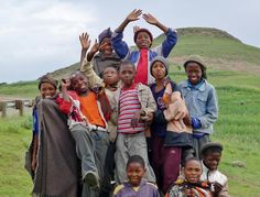 The precious faces of Lesotho!