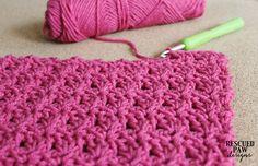 Crochet Primrose Stitch Tutorial - Free Blanket Pattern by Rescued Paw Designs