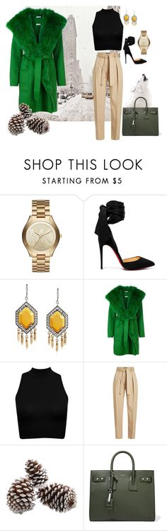 """""""My Dream Bougie Winter Outfit"""" by classyhippy on Polyvore featuring Michael Kors, Christian Louboutin, P.A.R.O.S.H., Polo Ralph Lauren and Yves Saint Laurent"""
