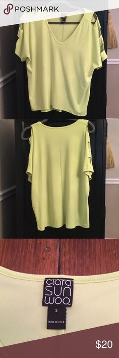 Selling this C SUN WOO Cold Shoulder Top on Poshmark! My username is: kimreed1967. #shopmycloset #poshmark #fashion #shopping #style #forsale #Ciara Sun Woo #Tops