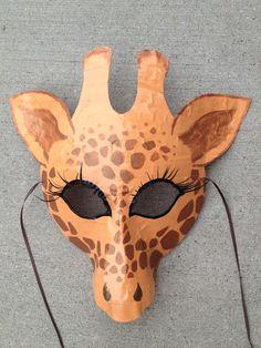 Giraffe mask, Giraffe costume. $12.00, via Etsy.