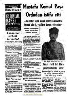 istiklal harbi gazetesi 8 temmuz 1919