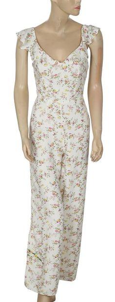 81ba66d0d2f7 158706 NWD Denim   Supply Ralph Lauren Floral Printed Beige Jumpsuit Dress  XS 2  DenimSupply  Jumpsuit