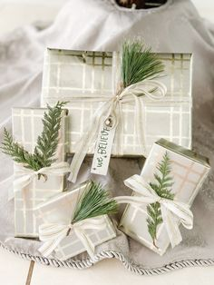 -Pick a theme that doesn't clash with the tree and overall Christmas decor -Pick accessories that match the wrapping paper -Elevate the gift tag by added an ornament, bell or greenery