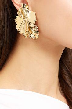 Annelise Michelson | Boucles d'oreilles clip en plaqué or Sea Leaf | NET-A-PORTER.COM
