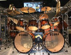 Tama Drums Kit..Reminds me of Simon Phillips (Toto) Drum set..I want This 4 My Next Birthday,lol.